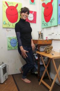 audra in mini studio